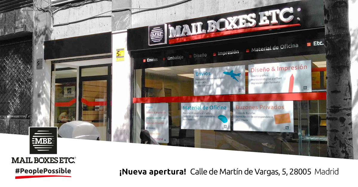 centro mbe madrid capital envios internacionales
